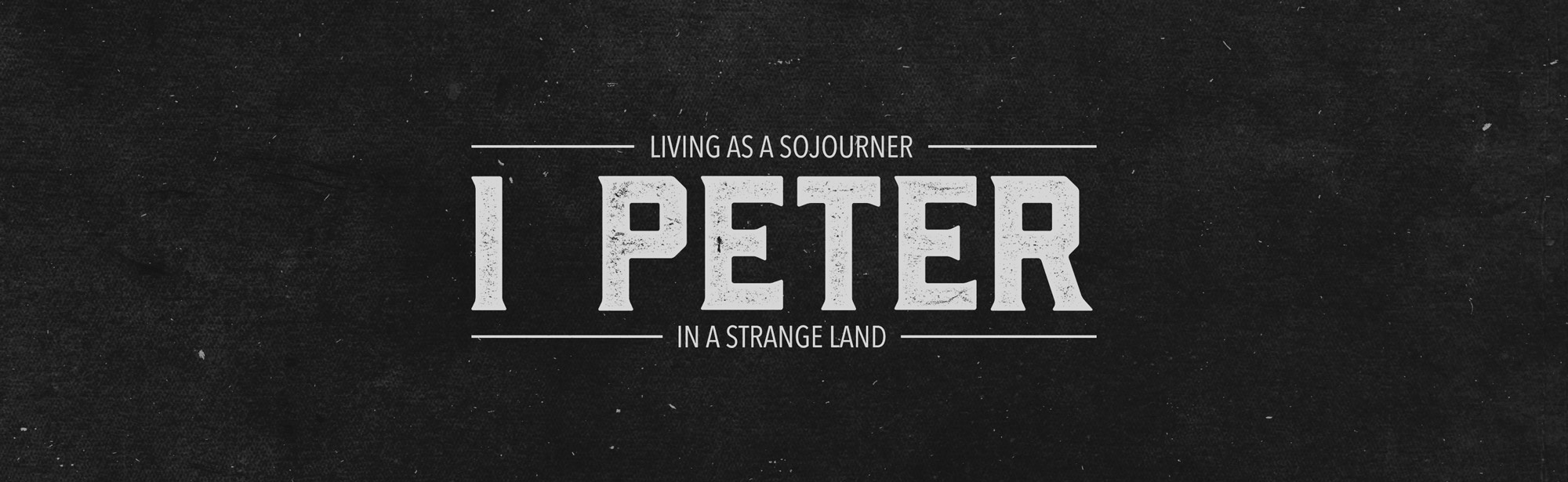 1 Peter - Sermon Series - Grace Community Church